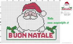 Santa Claus with simple text