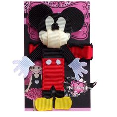 Clubhouse Mouse Ribbon Sculpture  A PIXIE by PixiePretties on Etsy, $9.50
