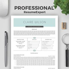 Professional Resume Template Cover Letter By ResumeExpert