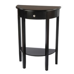 Bianco Collection Black Half Round Hall Table | Overstock.com