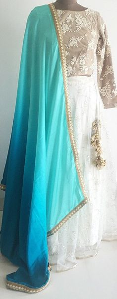 The Aquamarine Constellation Lehenga