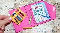 American Girl Doll School Binder DIY How to make Doll Bi. - American Girl Doll School Binder DIY How to make Doll Binder Casa American Girl, American Girl Crafts, American Girls, Diy Ag Dolls, Ag Doll Crafts, American Girl Accessories, Doll Accessories, Diy Crafts For Girls, Girls Dollhouse