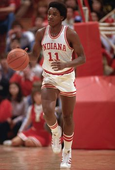 Indiana guard Isiah Thomas dribbles upcourt during a 1980 game against Ohio State. A year later, Thomas would be named Most Outstanding Player in leading the Hoosiers to a national title. (Andy Hayt/SI)  GALLERY: Classic Photos of Isiah Thomas