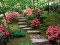 Backyard garden steps