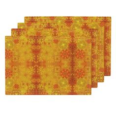 Lamona Cloth Placemats featuring Festive Gold by floramoon_designs   Roostery…