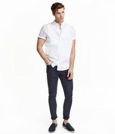 Twill trousers Skinny fit | Dark blue | Men | H&M ID