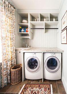 Laundry room decor ideas beautiful vintage laundry room decor ideas design for rustic style home laundry . White Laundry Rooms, Laundry Room Remodel, Laundry Room Cabinets, Laundry Room Bathroom, Farmhouse Laundry Room, Laundry Room Organization, Bathroom Cabinets, Diy Cabinets, Basement Laundry