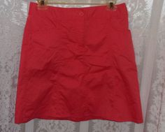 H & M Skirt Women Size 6 Coral  #HM #ALine