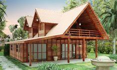 Casas de madeira pré-fabricada - fotos, preços 24