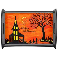 "Halloween serving tray ""Best Night of the Year"""