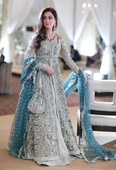 New Pakistani bridal dresses Collection in this post our celebrity dress design team is going to show you some latest and most beloved Pakistani bridal dresses bridal dr… Indian Bridal Lehenga, Indian Bridal Fashion, Pakistani Wedding Dresses, Indian Dresses, Indian Outfits, Pakistani Gowns, Bridal Anarkali Suits, Lehenga Wedding, Latest Wedding Dresses Indian