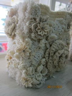 Shabby chic crochet Book of lace  created by Msgardengrove1