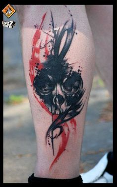 fuckyeahtattoos:    My first tattoo, drawn and tattooed by live2 of tattoligans in greece, I waited a year for an appointment with this guy because i think his style is so cool!