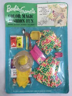 VINTAGE-BARBIE-AND-FRANCIE-COLOR-MAGIC-FASHION-FUN-OUTFIT-NRFB