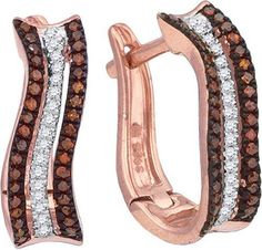 1/4CTW-Diamond MICRO-PAVE HOOPS