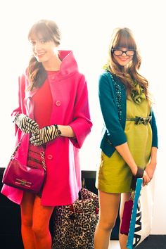 Classic meets fun. Love the style of red coat. Gloves, however, are tragic.