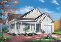 Victorian House Plan with 1124 Square Feet and 2 Bedrooms(s) from Dream Home Source | House Plan Code DHSW15361