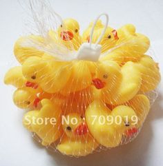 Mini rubber duckies for cupcake toppers :)