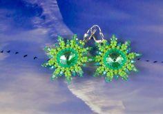 Ohrringe Ohrstecker Stern grün von kreativrausch-kiel auf DaWanda.com