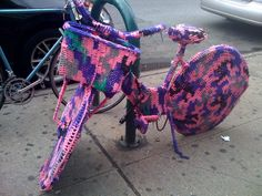 #crochet bike by Olek