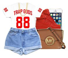 """""""07.15.15"""" by jadeessxo ❤ liked on Polyvore featuring NIKE, Michael Kors, Levi's and R.J. Graziano"""