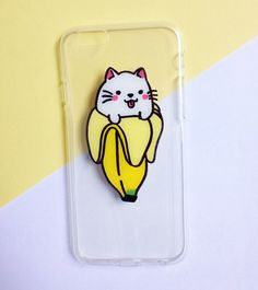 Hand painted Banana Cat phone case - iPhone 6 case clear- iPhone 6 case - iPhone 6s case - Pokemon Phone Case - Samsung Galaxy S7 Edge Case sold by Mint Corner. Shop more products from Mint Corner on Storenvy, the home of independent small businesses all over the world.