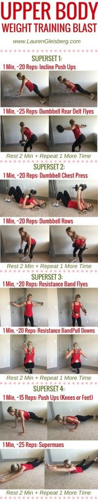 UPPER BODY WEIGHT TRAINING BLAST (home workout version) - Day 5 of #LGFitmas Challenge  www.LaurenGleisberg.com