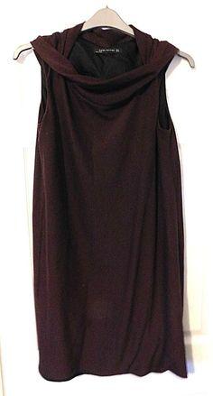 6bdd92473a ARA WOMAN Burgundy Red Cowl Neck Sleeveless Smock Dress Size EUR Medium   fashion  clothing