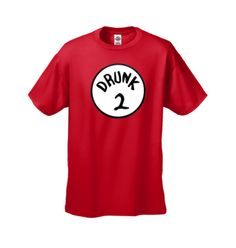 Funny T-shirt Mens Drunk 2 Novelty T-Shirt Red - Size L
