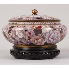 Chinese cloisonne covered chrysanthemum bowl