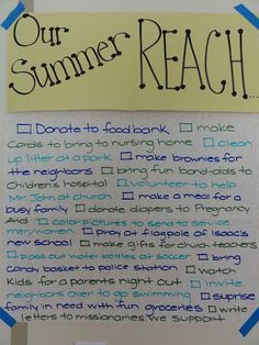 Great idea-list of summer service projects to do with kids