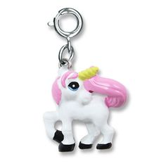 Girls Charm It Unicorn Charm. Charm bracelets available too. | parakeetfeet.com