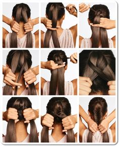 hairstyles for long hair braids steps - Google Search