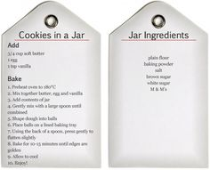 Cookies in a Jar Recipe -- Printable - beafunmum.com