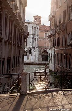 Sun Light Dancing on the Water - Venice, Italy