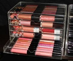 The Beauty Look Book: MUJI Acrylic 5 Row Case for Lipgloss Storage
