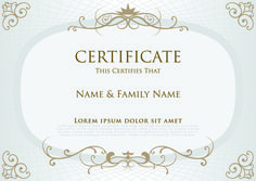 A good looking certificate brochure template to create certificates elegant certificate template vector design 03 yadclub Gallery