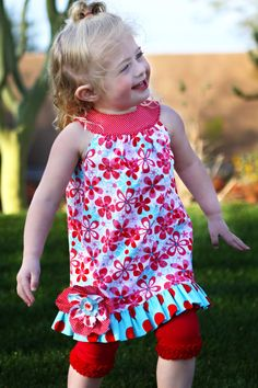 Custom Ruffle Tunic Dress/Shirt for Easter Sizes by MReeseDesigns, $39.95
