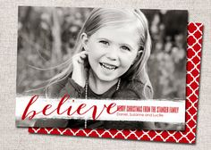 Christmas Card Photo Holiday Card: PRINTABLE by cardsetcetera