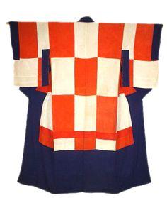 Edo silk patchwork kimono