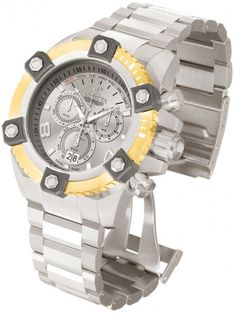 Invicta Men's 80175 Reserve Quartz Chronograph Silver Dial Watch