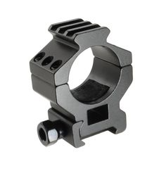 The Trenier TO Series of rifle scope rings are made from strong light weight aluminum and each scope ring features a large steel recoil lug. The heavy duty recoil lug helps ensure your scope rings stay in place during heavy recoil and fit both weaver and Picatinny rails.