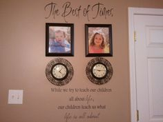 What a cute idea with the clocks set at the time of birth.
