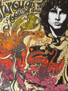 Psychedelica Design Era - The Doors Concert Poster - Rock Posters, Band Posters, Music Posters, Vintage Concert Posters, Vintage Posters, Flower Power, Art Hippie, Hippie Gypsy, Concert Rock