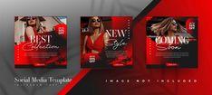 YusufSangdes | Freepik Social Media Banner, Social Media Template, Social Media Design, Fashion Sale, Red Fashion, Banner Fashion, Post Design, Mode Monochrome, Logo Abstrait