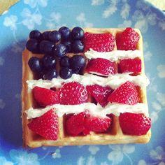Teaching the kids to celebrate our independence just like our forefathers did. With flag waffles! by joeyinteractive, via Flickr