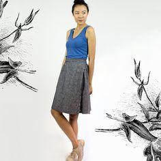 Cindy Wrap skirt  Organic Cotton & Hemp by SimonesRoseBoutique