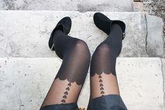 raining #hearts on a black pair of stockings...so sexy