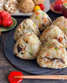 Rice Cooker Recipes, Easy Rice Recipes, Asian Recipes, Cooking Recipes, Deli Food, Cafe Food, Food Menu, Japenese Food, Onigiri Recipe