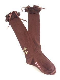 Princess Logo Knee Socks in Brown from Angelic Pretty - Lolita Desu